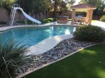 The pool is heated for year-round enjoyment!
