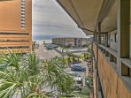 The beach is only a few short steps from the condo - you can see it from the front door!