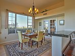 Enjoy mealtime together in the formal dining room with seating for 4.