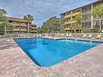 Spend your days lounging, sunbathing and splashing around the community pool area.