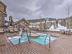 After a long day on the slopes, take a soothing soak in the community hot tubs.