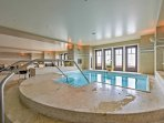 The resort offers plenty of indoor options for swimming and taking a soak.