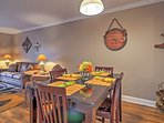 Gather around the charming dining room table for memorable meals at home.