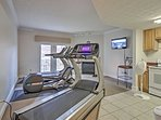Stay on track with your workout routine in the community fitness center.