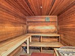 Enjoy using the community sauna and sweat away any unwanted toxins.