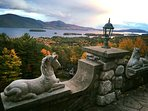 180-degree views of Lake George and the Adirondack Mountains.