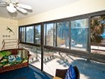 Enclosed Balcony off Living Room with Gulfviews