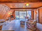 The cabin boasts 500 square feet of comfortable living space.