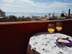 Terraza con preciosas vistas al mar