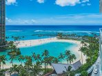 Duke Kahanamoku Beach And Lagoon From The Ilikai Hotel