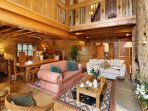 Walnut cottage, the crowning glory. Beautifully crafted, expansive open plan interior with open fire