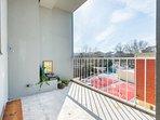 Sunny spacious balcony to enjoy the sunny days!