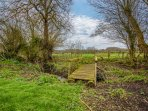Walk across glorious Somerset countryside, over the garden bridge