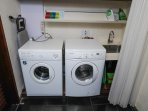 Washer & Dryer, iron and ironing board