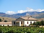 View form villa baroni and adjacent guest house where two extra bedrooms are located