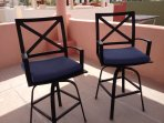 Tower chairs & table overlooking Sea of Cortez & mtns