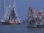 The 'Blessing of the Fleet' for the shrimping industry is a big event.