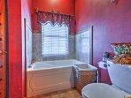 Enjoy a revitalizing bubble bath.