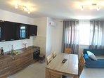 apartment 4, kitchen livingroom