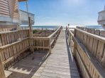 This is not public beach access, its for exclusively for Ocean Dunes guests, complete with an outdoor shower and a hose...