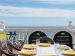 Alfresco dining on the main deck
