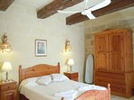 ZNUBER holiday house first floor double bedroom with a ceiling fan