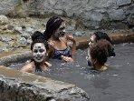 Rejuvenating warm mineral bath.