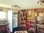 On-site store offers snacks, firewood, ice, over 64 craft beers and over 70 wines, local honey, eggs