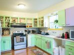 Very well equipped kitchen where you can cook any meal without a hassle