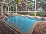 Enjoy a refreshing swim in the pool or soak in the hot tub.