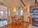 Gather around the elegant 4-person dining room table for delicious home-cooked meals.