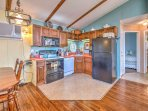 The chef of the group will love preparing home-cooked meals in the fully equipped kitchen.