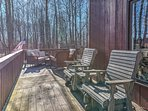 Soak up the sun when you sit outside on the deck for your afternoon beverages.