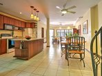 Whether you're trying out new recipes or ordering in fresh seafood from nearby restaurants, this fully equipped kitchen...