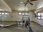 Head to the community fitness center to keep up with your fitness.