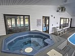 Take a soothing soak in the community hot tub or head to the sauna for a steam.
