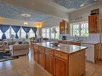 Whip up a tasty treat in this fully equipped kitchen.
