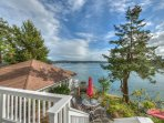 Two alluring cottages on a terraced waterfront property.  Great for couples traveling together.