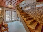 Stairs to loft, extra utility room
