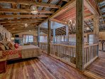 Spaceous open loft with master stay