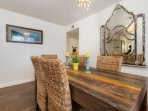 Dining table with comfortable seating for 6