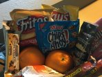 All Suites: snacking items, fruits & power bars to start your morning, other snacks.