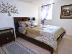 This room just got updated to a comfy king size bed!