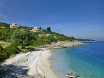 Villa Despina - top left - overlooking the  beach