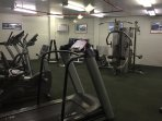 The fitness center, free for your use. (Although jogging along the beach or doing yoga on the lanai
