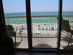 Balcony overlooks the beautiful Emerald Coast.
