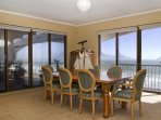 8 Seater dining room with views over Table Mountain and Robben Island