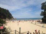 La playa ¡ fabulosa ! ¿verdad?