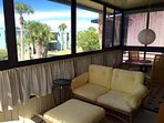 Relax on the sun porch any time of day