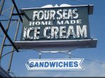 A three minute walk brings you to the Cape Famous Four Seas Ice Cream